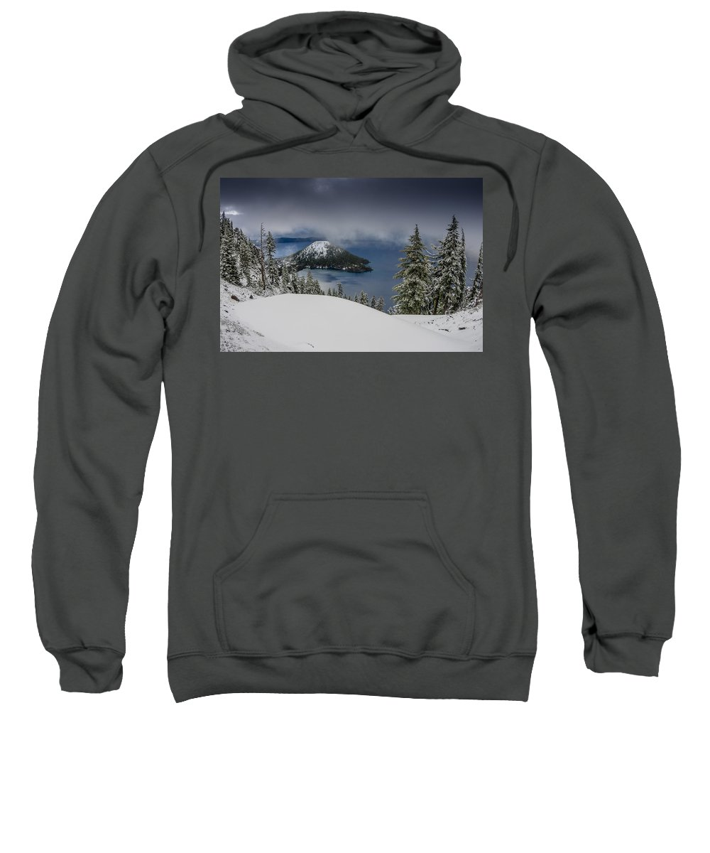 Cascades Sweatshirt featuring the photograph Encroaching Storm by Greg Nyquist