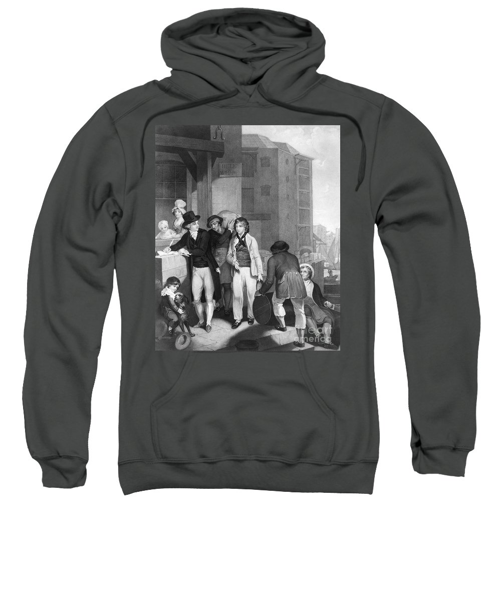 1800 Sweatshirt featuring the photograph England: Merchant, 1800 by Granger