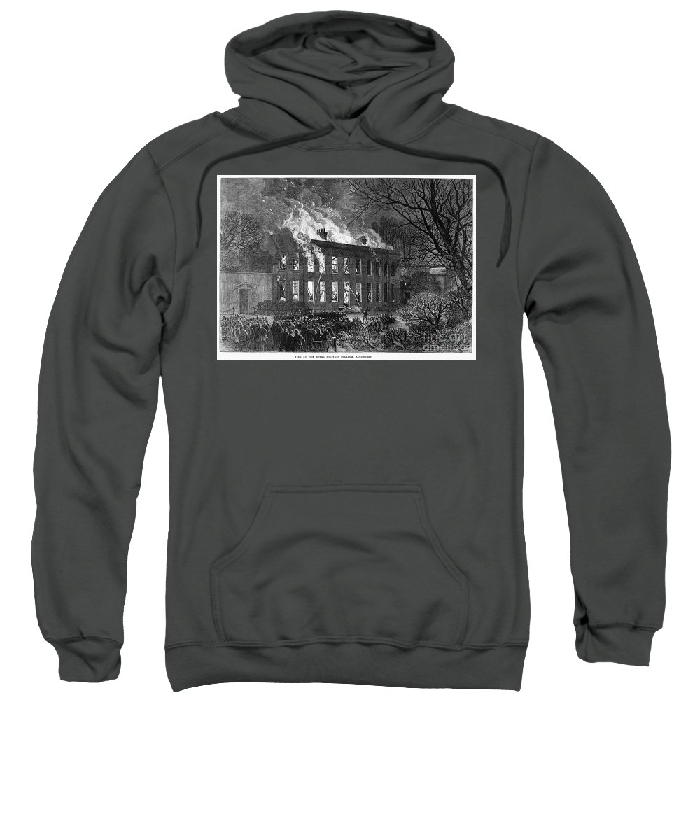 1868 Sweatshirt featuring the photograph England: Military College by Granger
