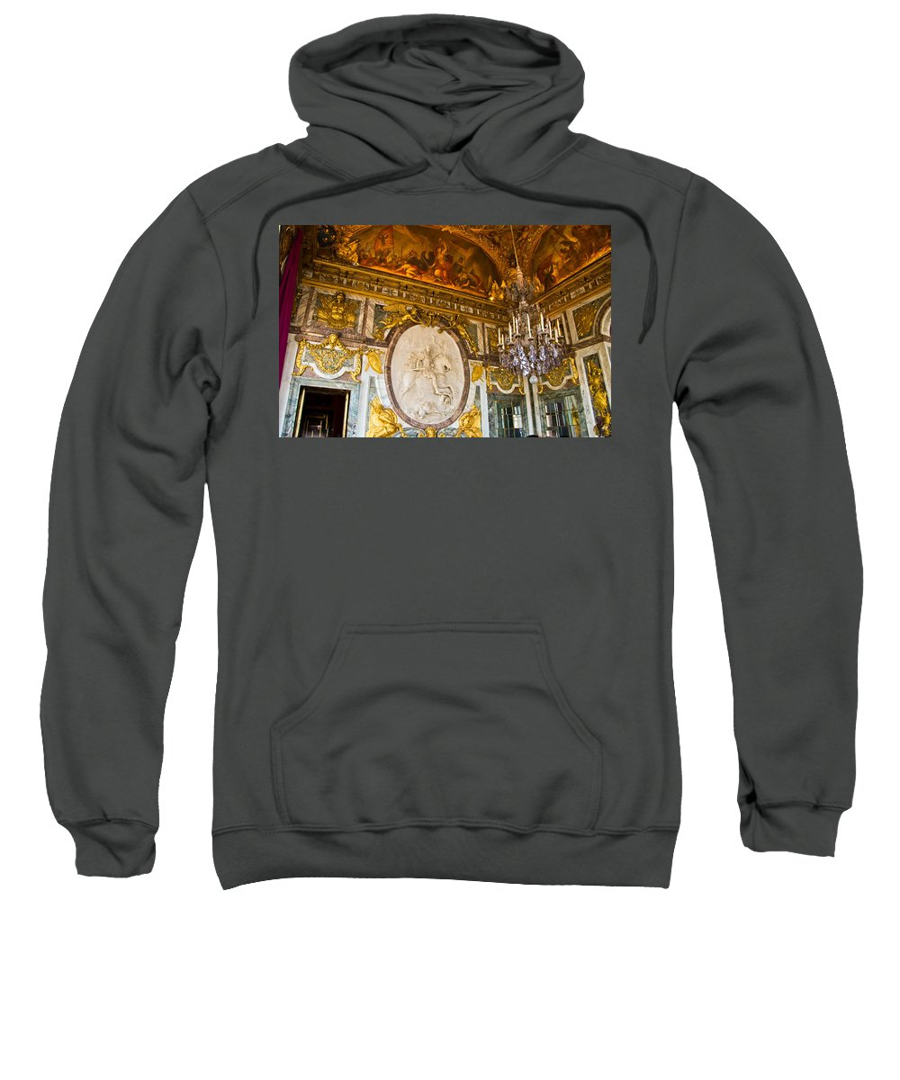 Palace Of Versailles Paris France Sweatshirt featuring the photograph Entryway To The Hall Of Mirrors by Jon Berghoff