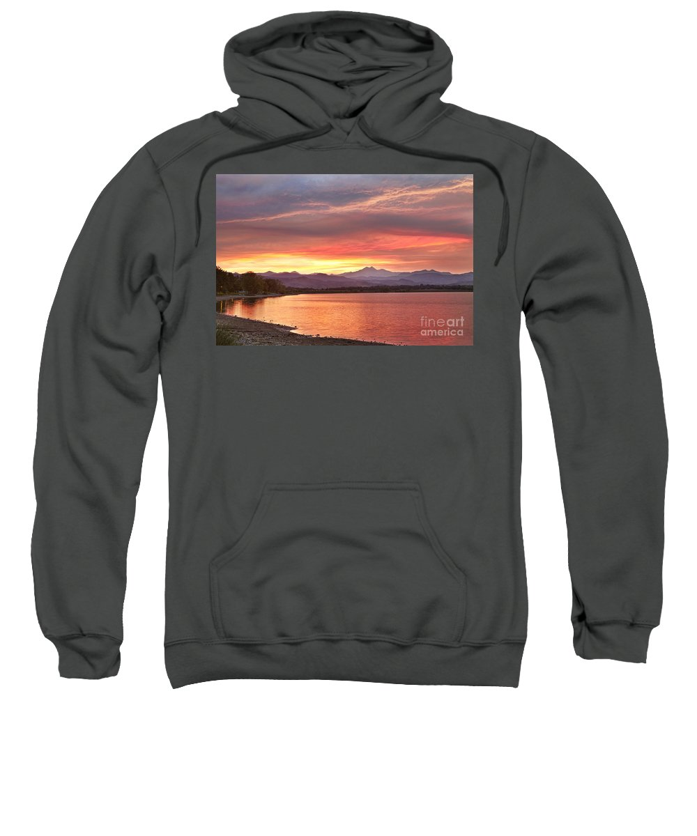 colorado Nature Sweatshirt featuring the photograph Epic August Sunset 2 by James BO Insogna