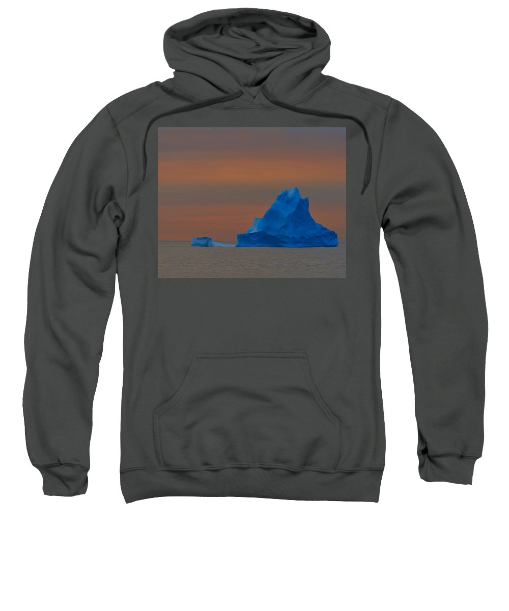 Iceberg Sweatshirt featuring the photograph Evening Berg by Tony Beck