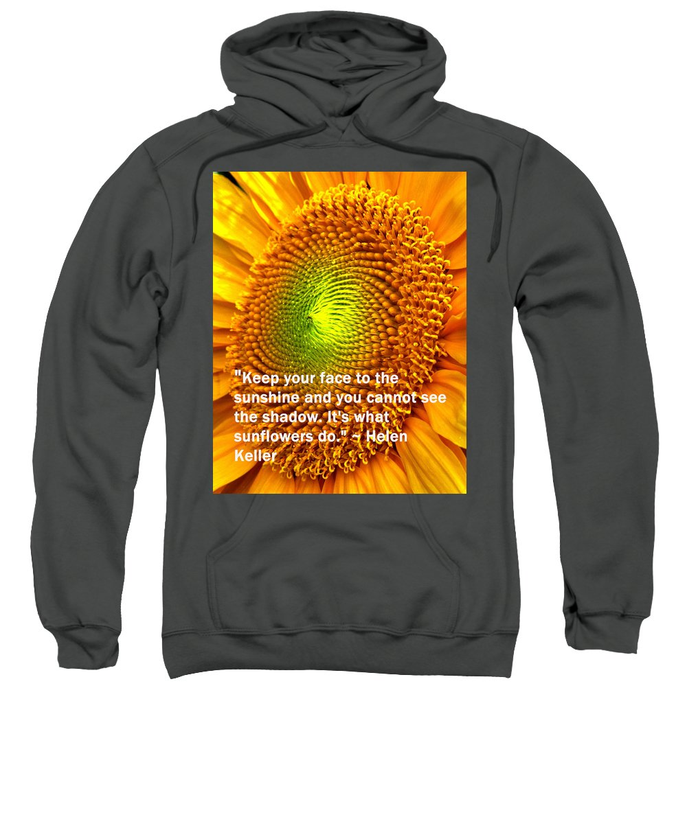 Poster Sweatshirt featuring the photograph Face To The Sun by Ian MacDonald