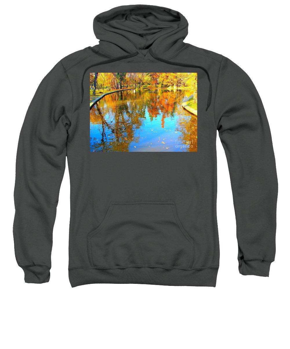 Fall Sweatshirt featuring the photograph Fall Reflections by Ana Maria Edulescu