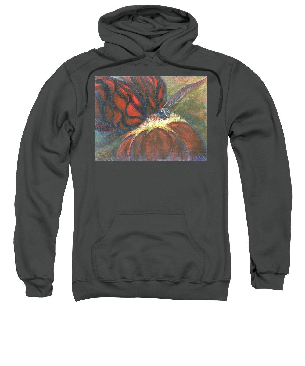 Fancy Sweatshirt featuring the painting Fancy Awakens by Sheri Lauren