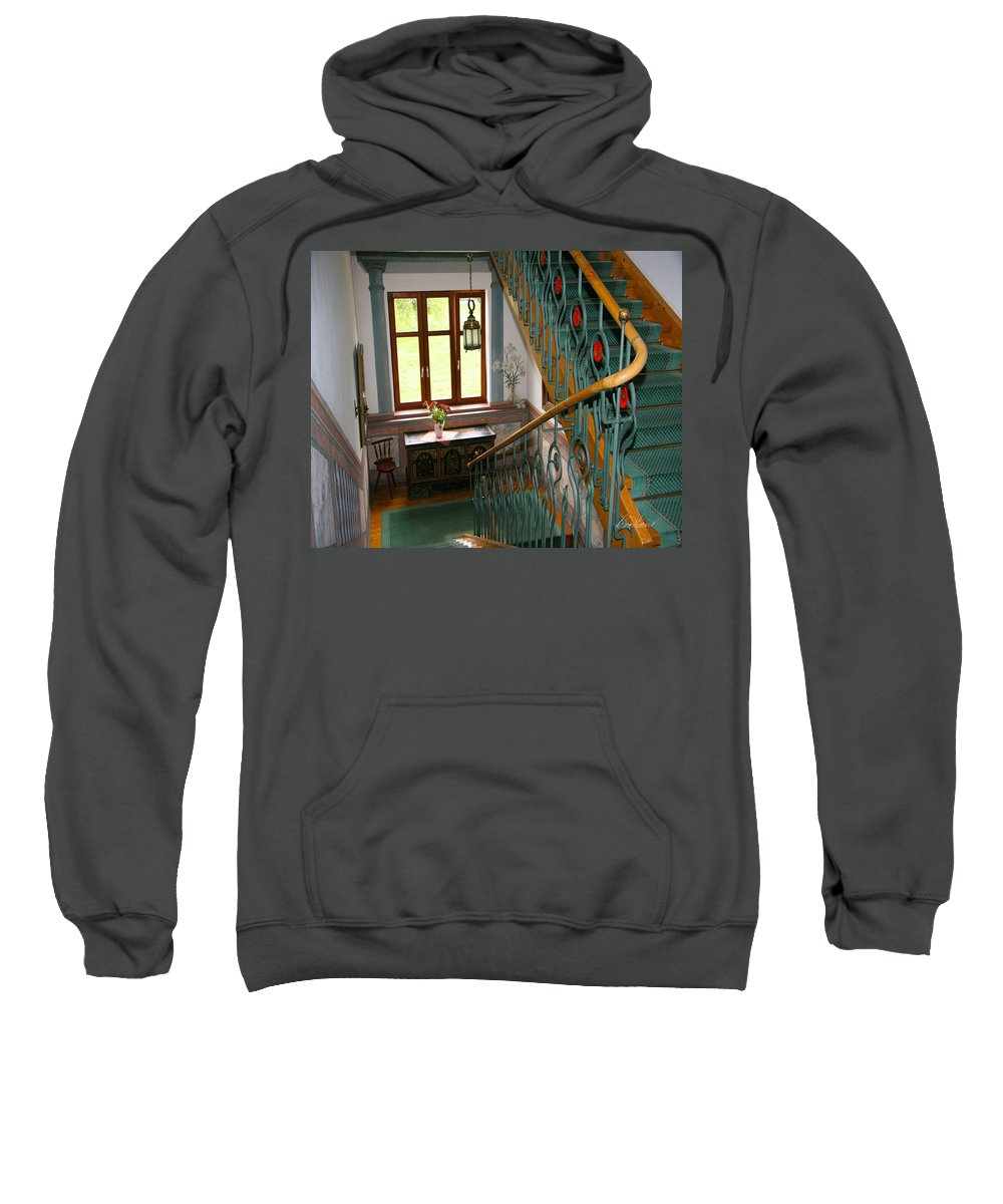 Staircase Sweatshirt featuring the photograph Fancy Stairs by Diana Haronis