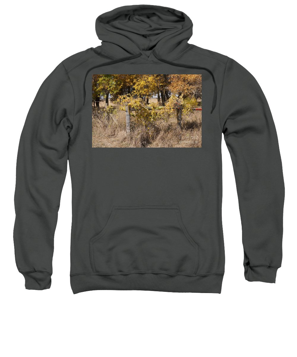 Fence Sweatshirt featuring the photograph Fence Post by Lori Tordsen