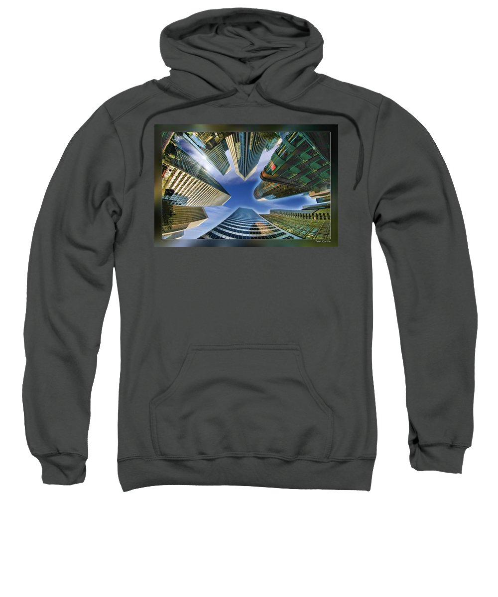 Art Photography Sweatshirt featuring the photograph Financial Skyline by Blake Richards
