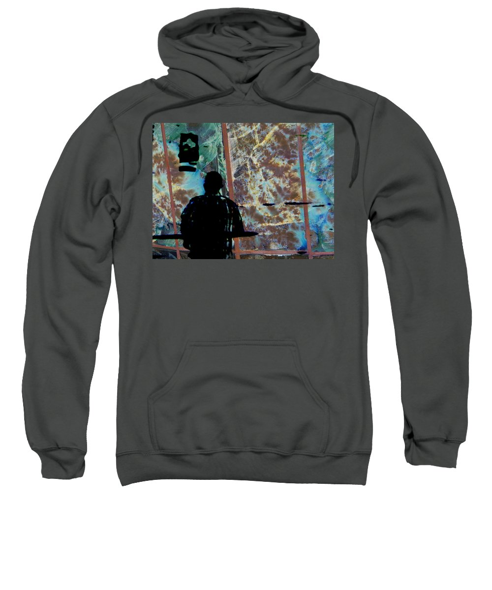 Abstract Sweatshirt featuring the photograph Finish Line by Lenore Senior