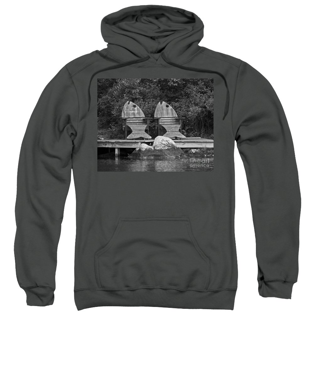 Chairs Sweatshirt featuring the photograph Fishing Chairs by Lloyd Alexander
