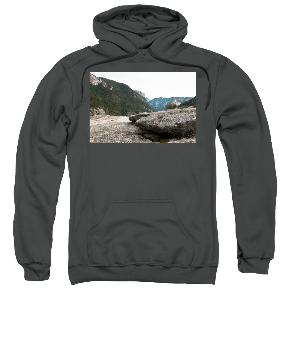 Yosemite National Park Sweatshirt featuring the photograph Flattop Rock Yosemite by Lorraine Devon Wilke