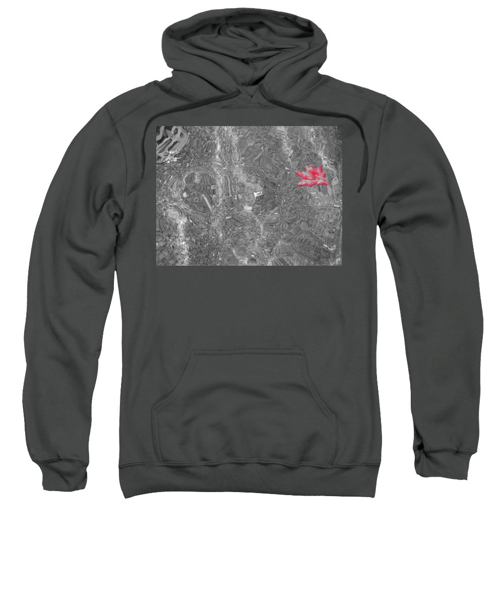 Flower Sweatshirt featuring the photograph Floating by Michele Nelson
