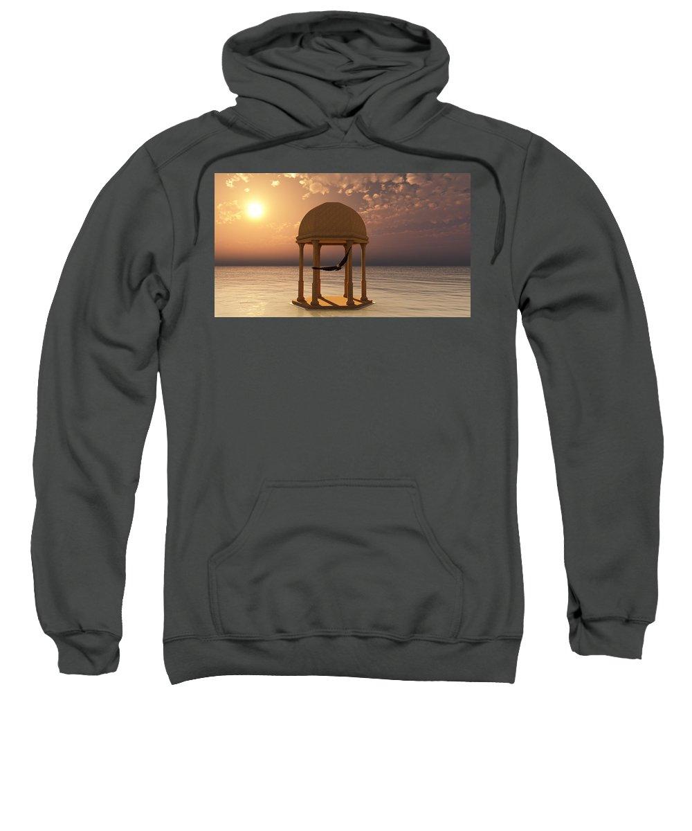 Eagle Sweatshirt featuring the digital art Flooded Dreams by Georgiana Romanovna