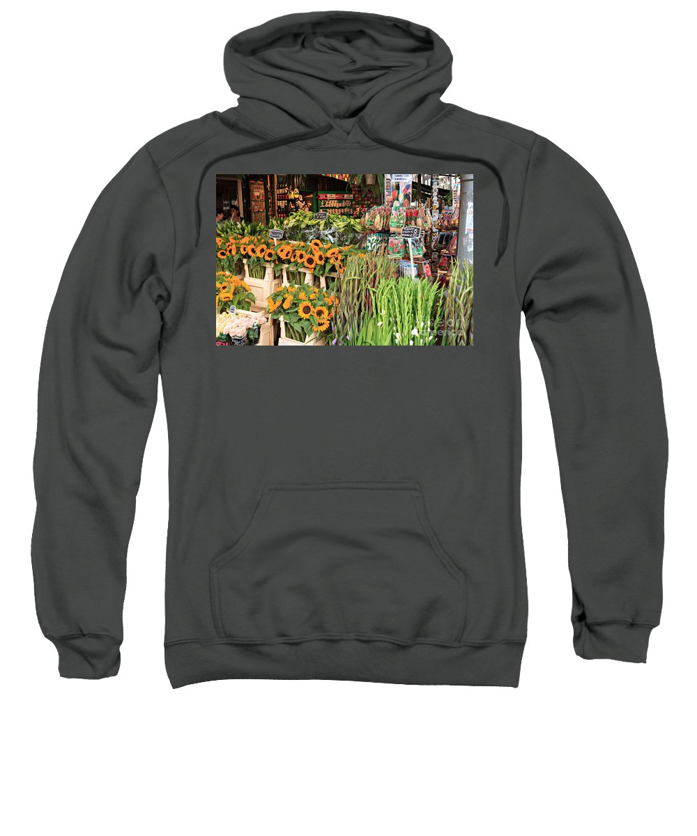 Sunflowers Sweatshirt featuring the photograph Flower Shop In Amsterdam by Louise Heusinkveld