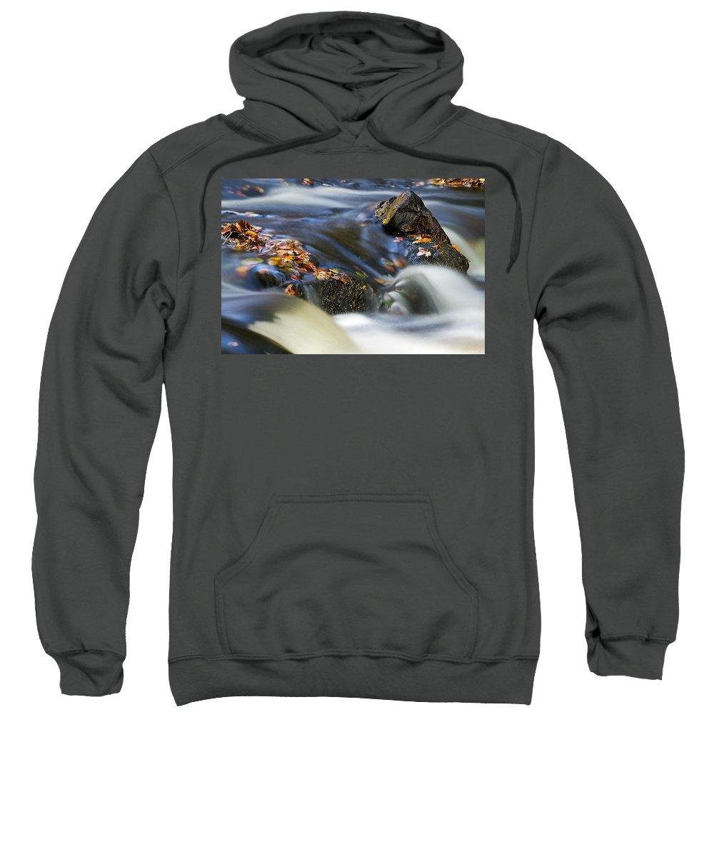 Hart Burn Sweatshirt featuring the photograph Flowing River IIi by David Pringle