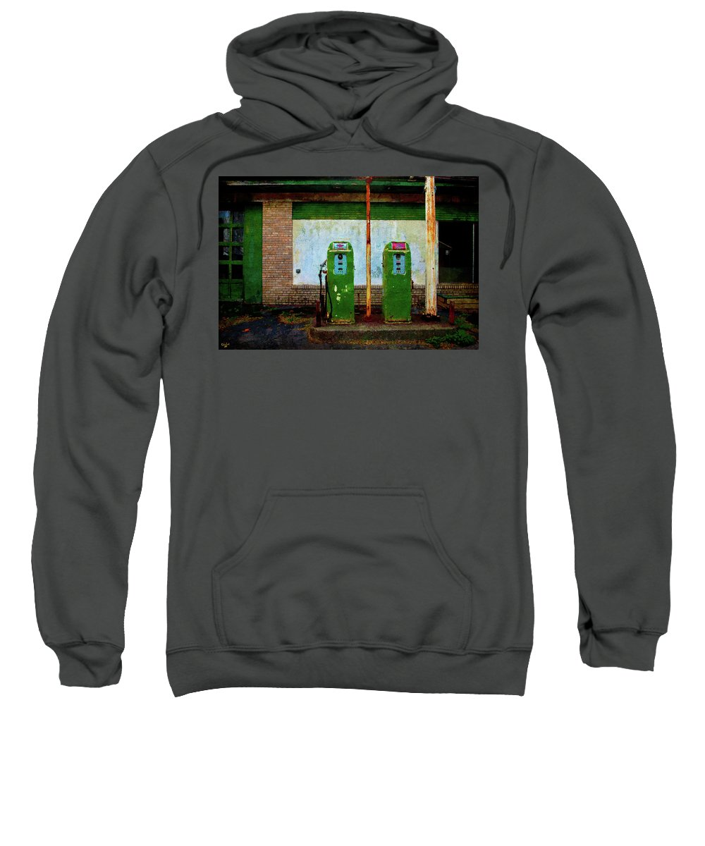 Flying A Gasoline Sweatshirt featuring the photograph Flying A Gas Station by Chris Lord