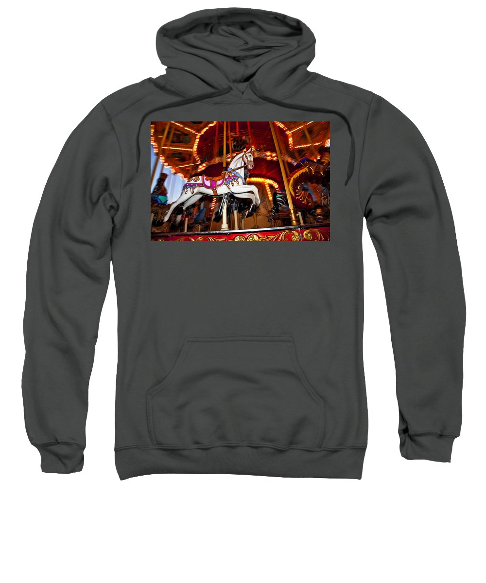 Carousel Sweatshirt featuring the photograph Flying Pony by Kelley King