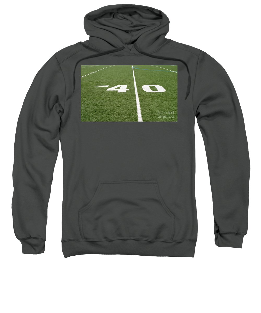 American Sweatshirt featuring the photograph Football Field Forty by Henrik Lehnerer