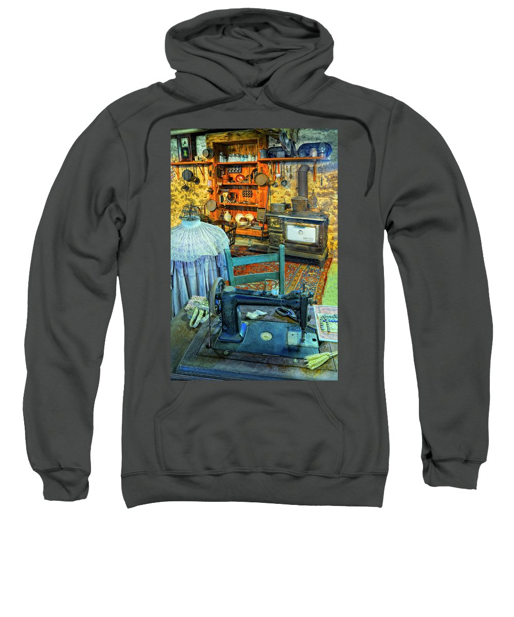 Sewing Machine Sweatshirt featuring the photograph From A Time Long Ago by Dave Mills