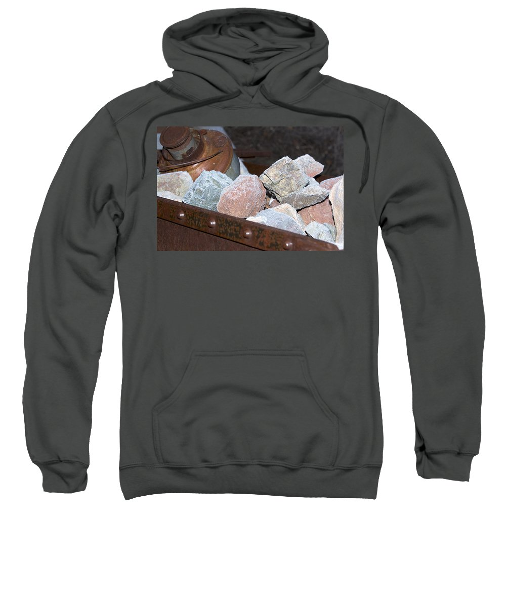 Rocks Sweatshirt featuring the photograph Frosty Rocks by Phyllis Denton