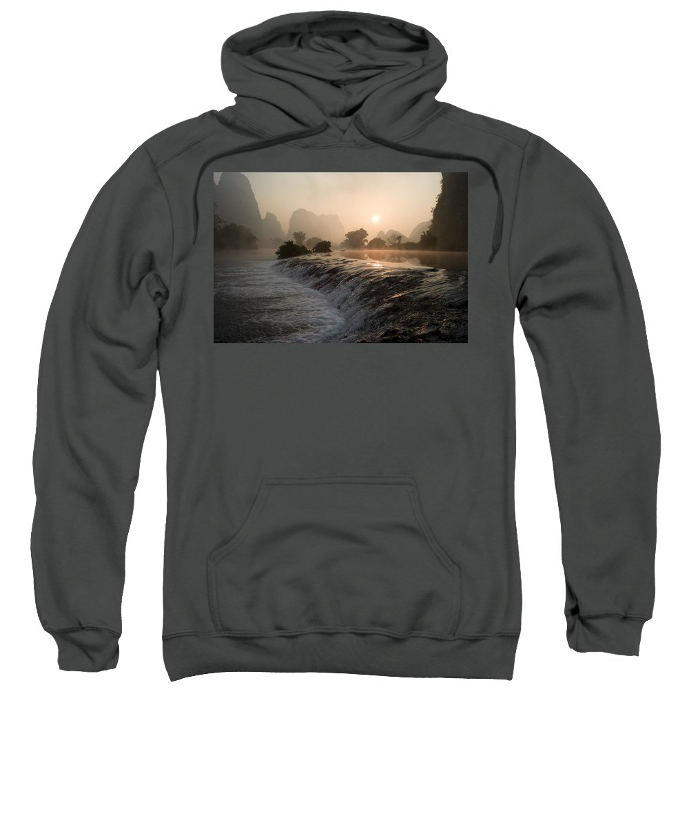 Beauty In Nature Sweatshirt featuring the photograph Frozen Yulong River by Keith Levit