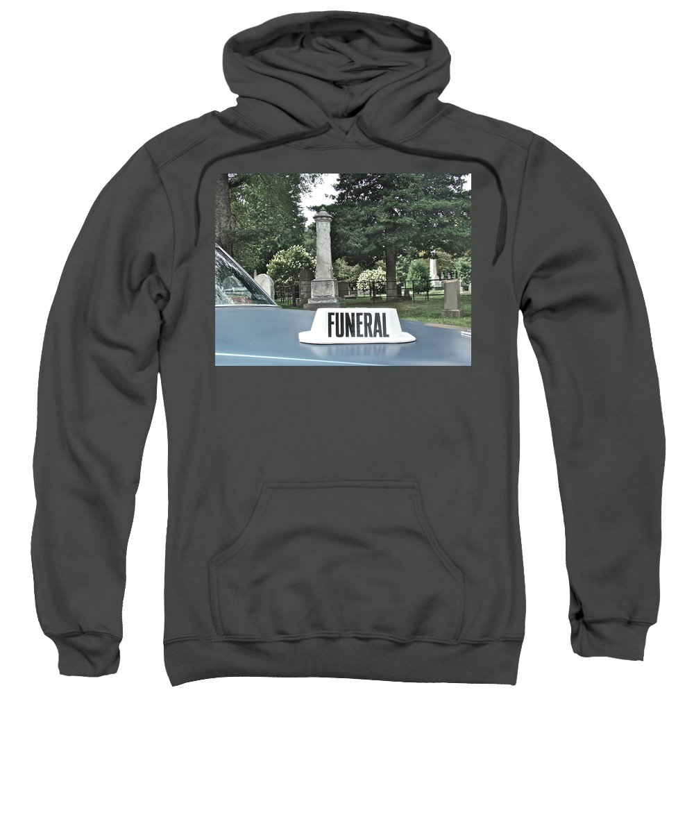Funeral View Cemetery Laurel Hill Philadelphia Sweatshirt featuring the photograph Funeral by Alice Gipson