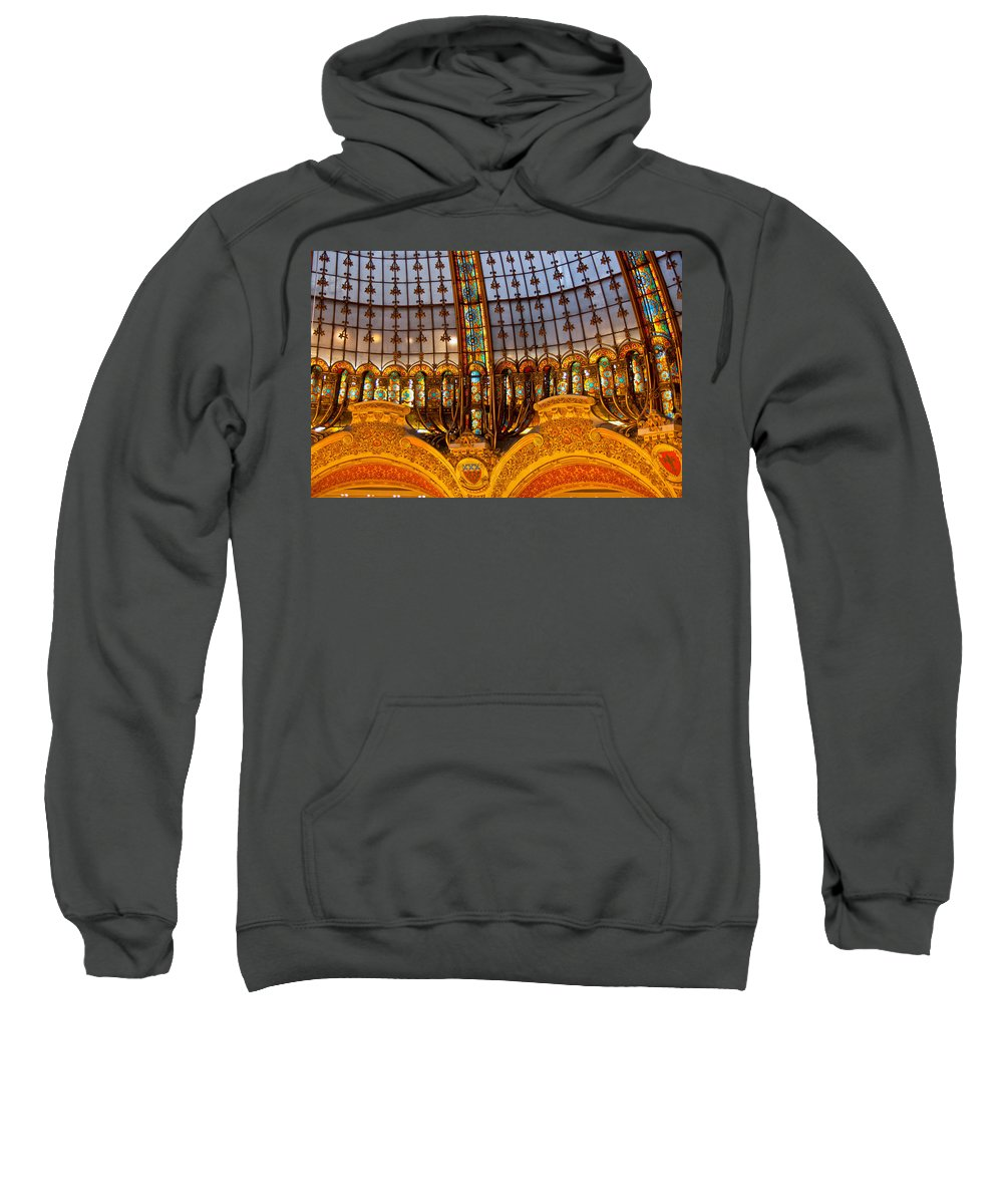France Sweatshirt featuring the photograph Galleries Laffayette Iv by Jon Berghoff