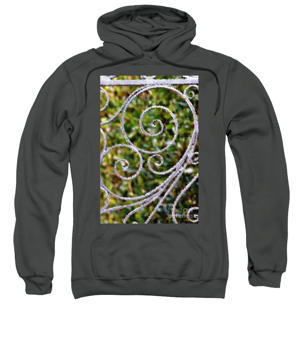 Circles Sweatshirt featuring the photograph Gate Of Circles by Donna Bentley