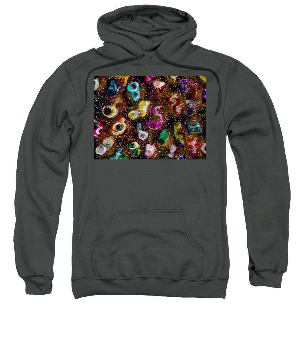 Sweatshirt featuring the digital art Gift by Mathieu Lalonde