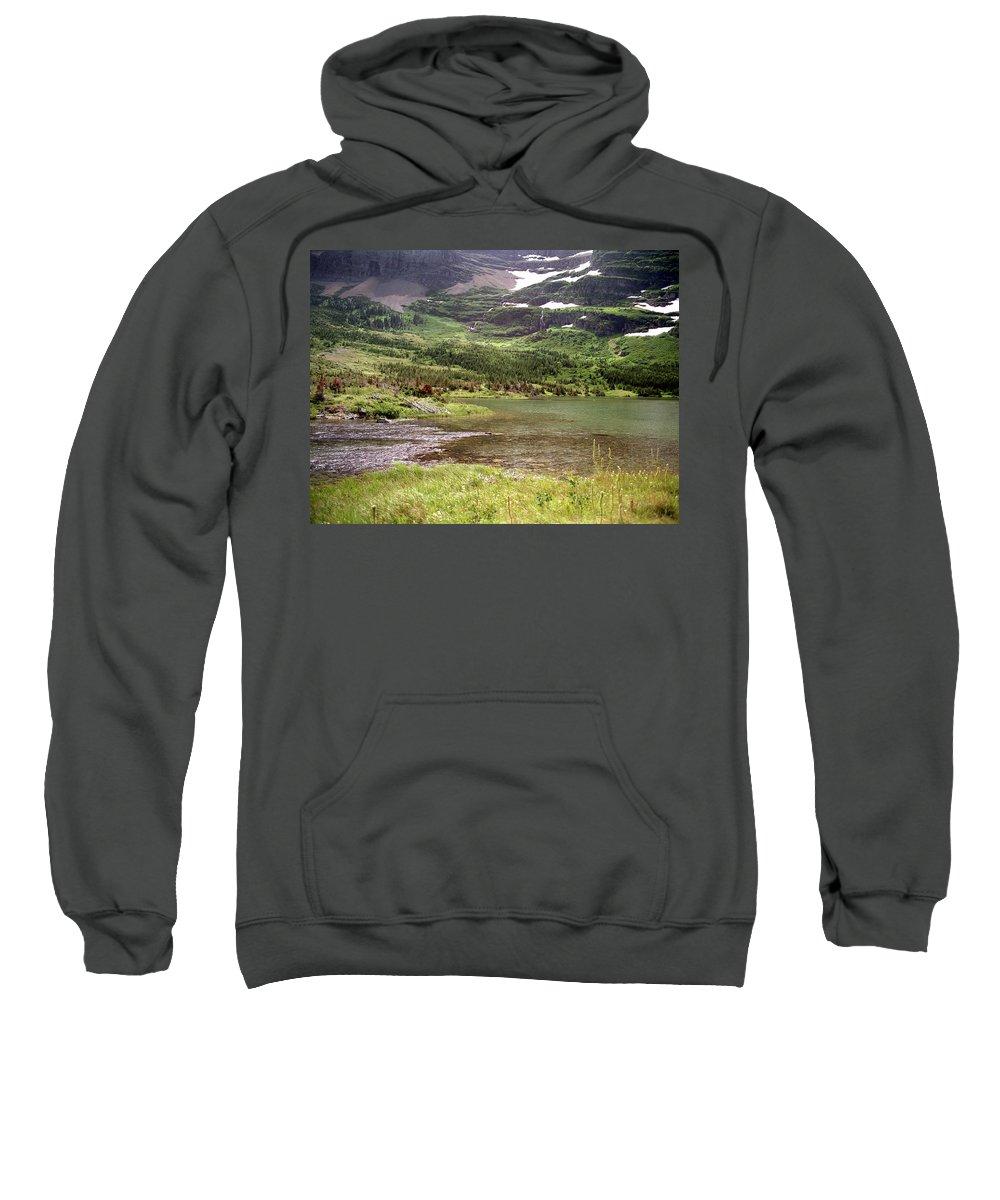Glacier National Park 1996 Sweatshirt featuring the photograph Glacier National Park by Lee Santa