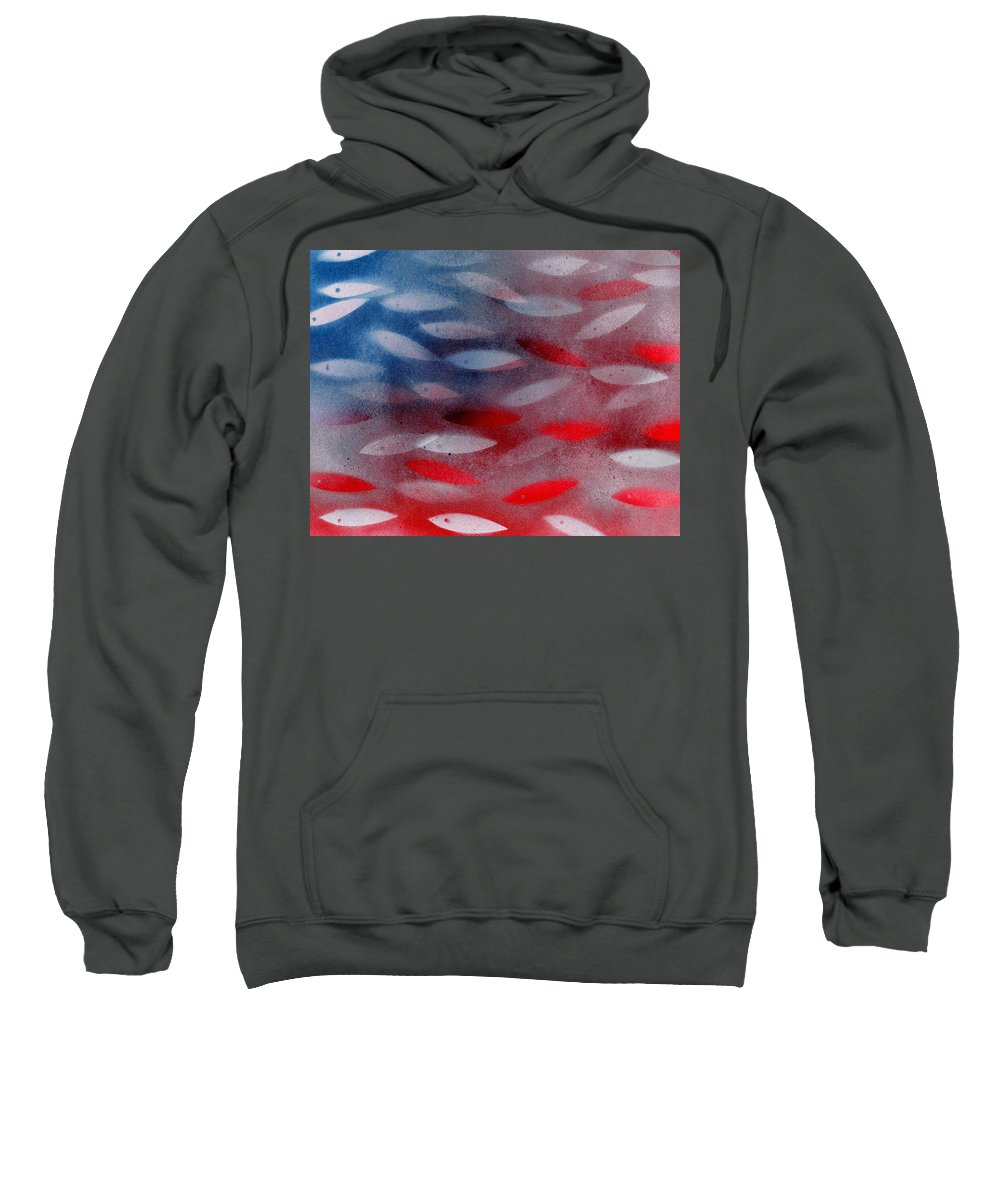 God Sweatshirt featuring the painting God Bless America by Elizabeth Harshman