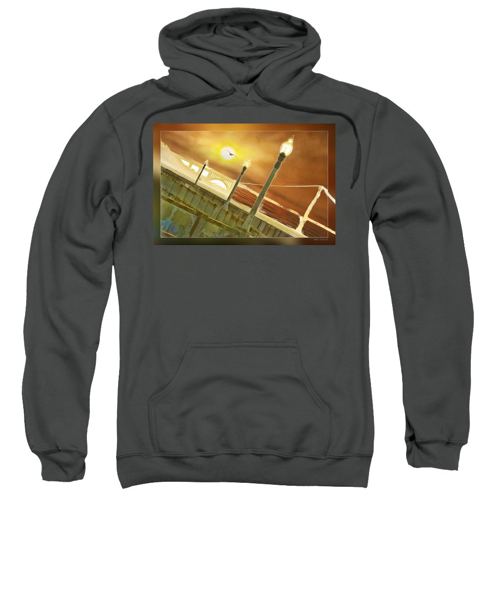 Golden Gate Sweatshirt featuring the photograph Golden Gate And Sea Gul by Blake Richards