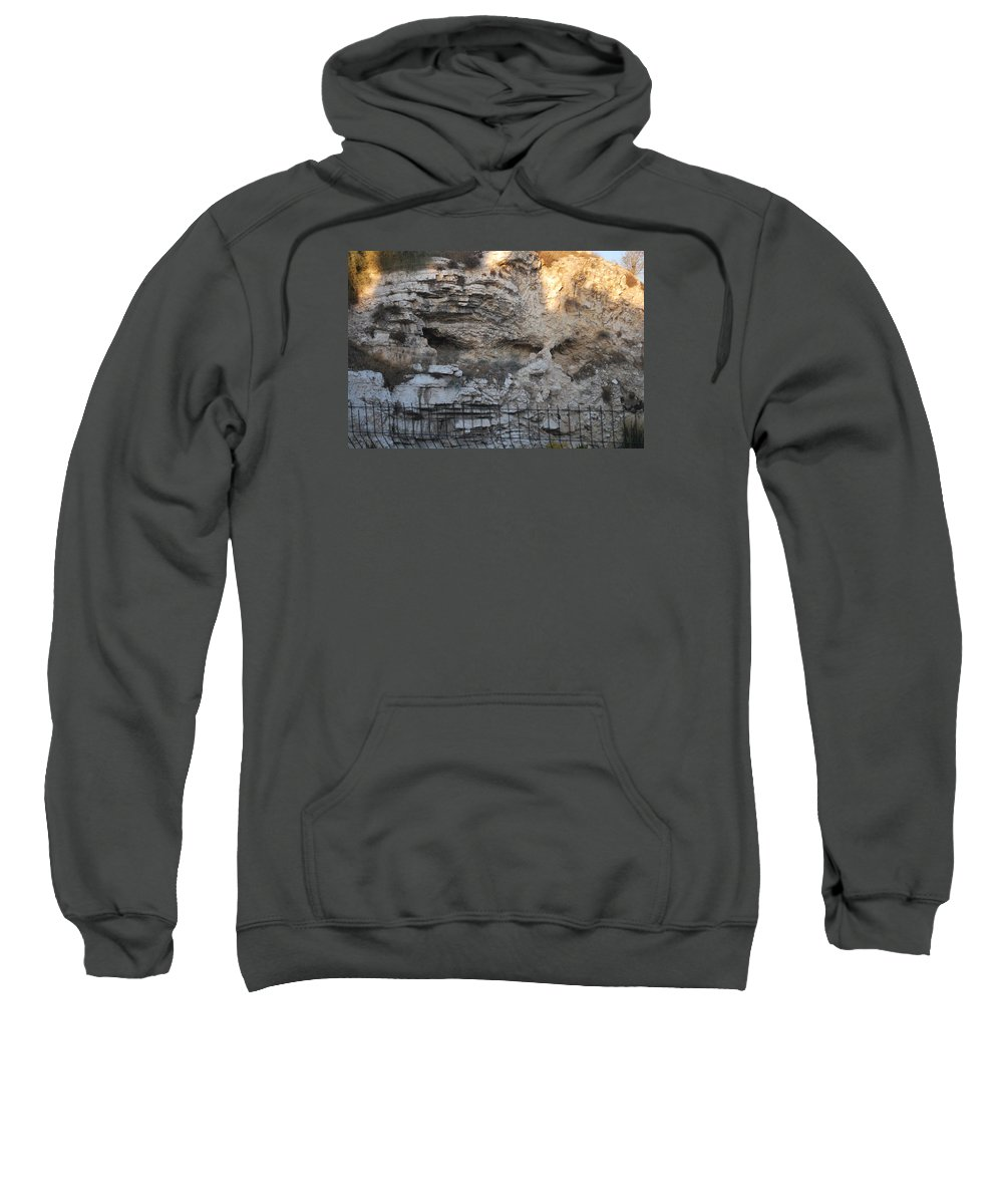 Natural Stone Image Sweatshirt featuring the photograph Golgotha The Place Of The Skull by Roy Emmett