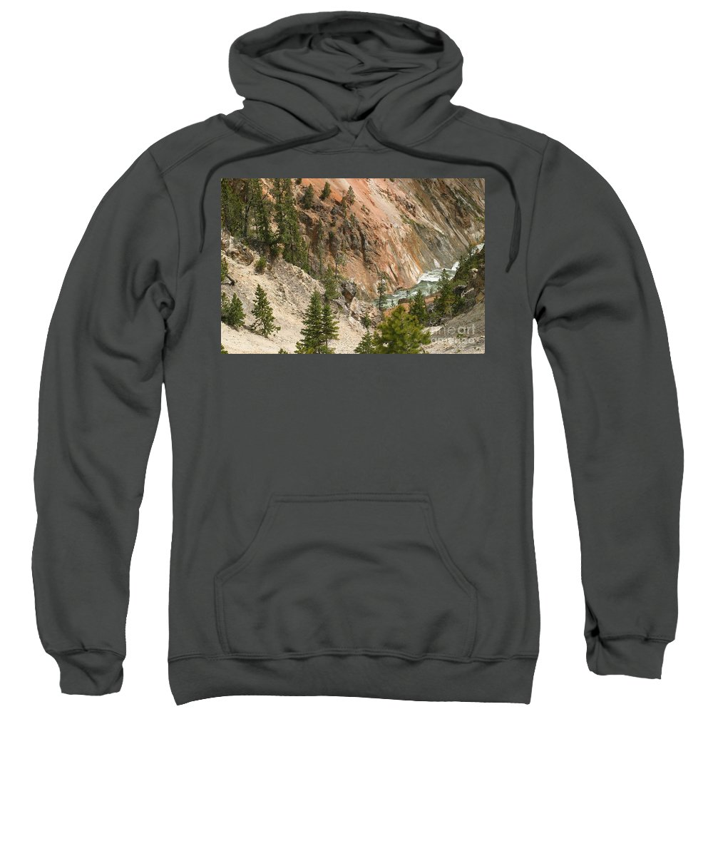 Grand Canyon Sweatshirt featuring the photograph Grand Canyon And Yellowstone River by Living Color Photography Lorraine Lynch