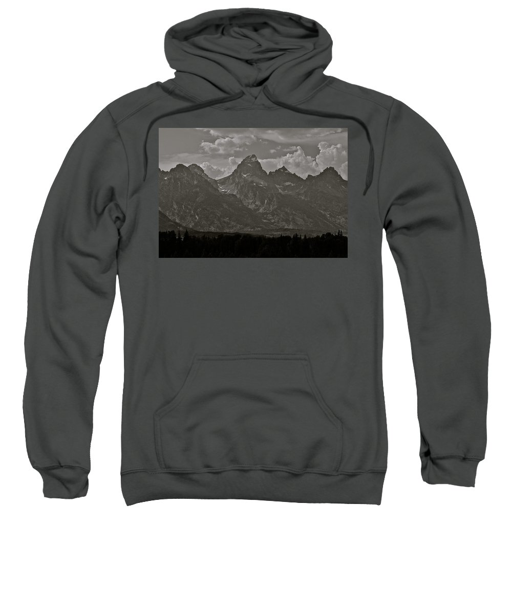 Mountains Sweatshirt featuring the photograph Grand Tetons by Eric Tressler