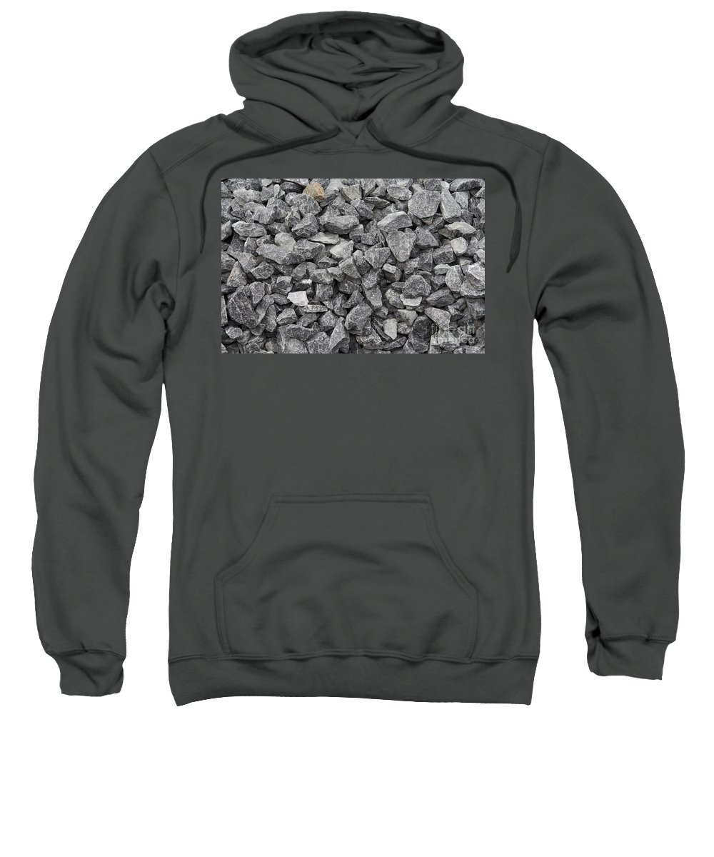 Stone Sweatshirt featuring the photograph Gravel - Road Metal by Michal Boubin