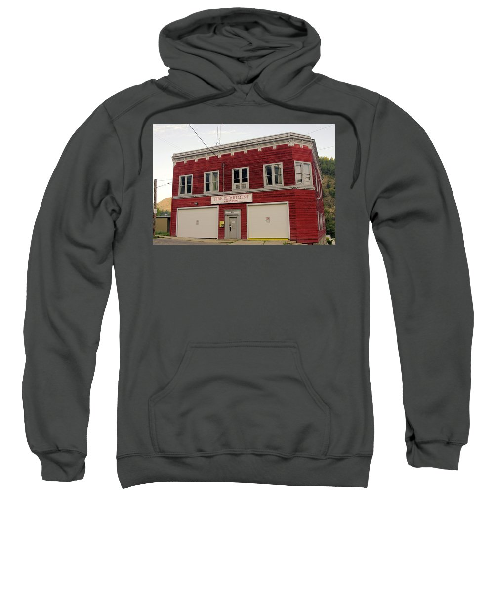 Fire Sweatshirt featuring the photograph Greenwood Fire Hall by John Greaves