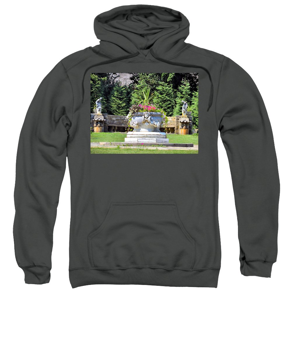 Statue Sweatshirt featuring the photograph Grounds by Art Dingo