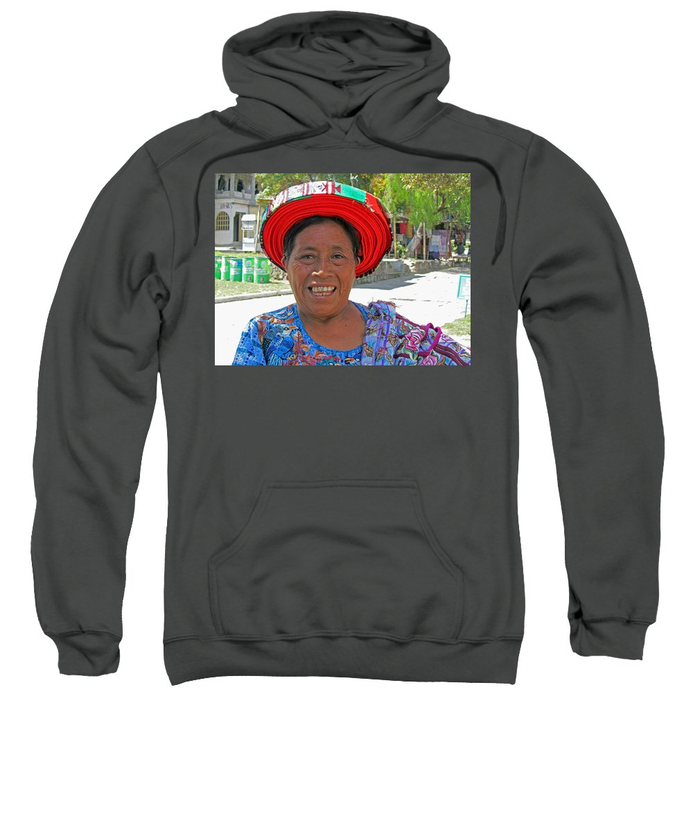 Guatemala Sweatshirt featuring the photograph Guatemalan Village Woman by Elizabeth Rose