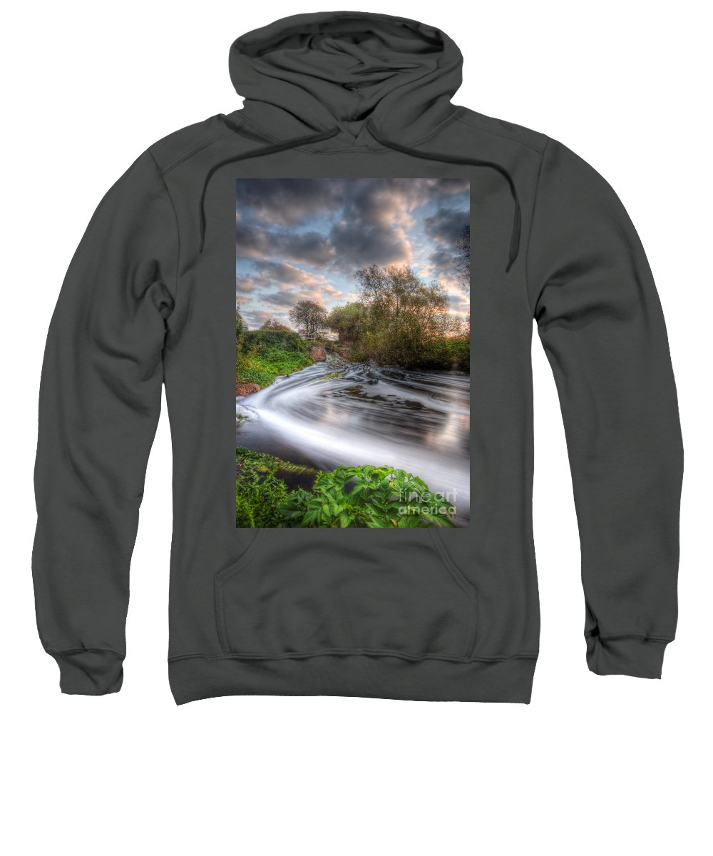 Hdr Sweatshirt featuring the photograph Gush Forth 1.0 by Yhun Suarez