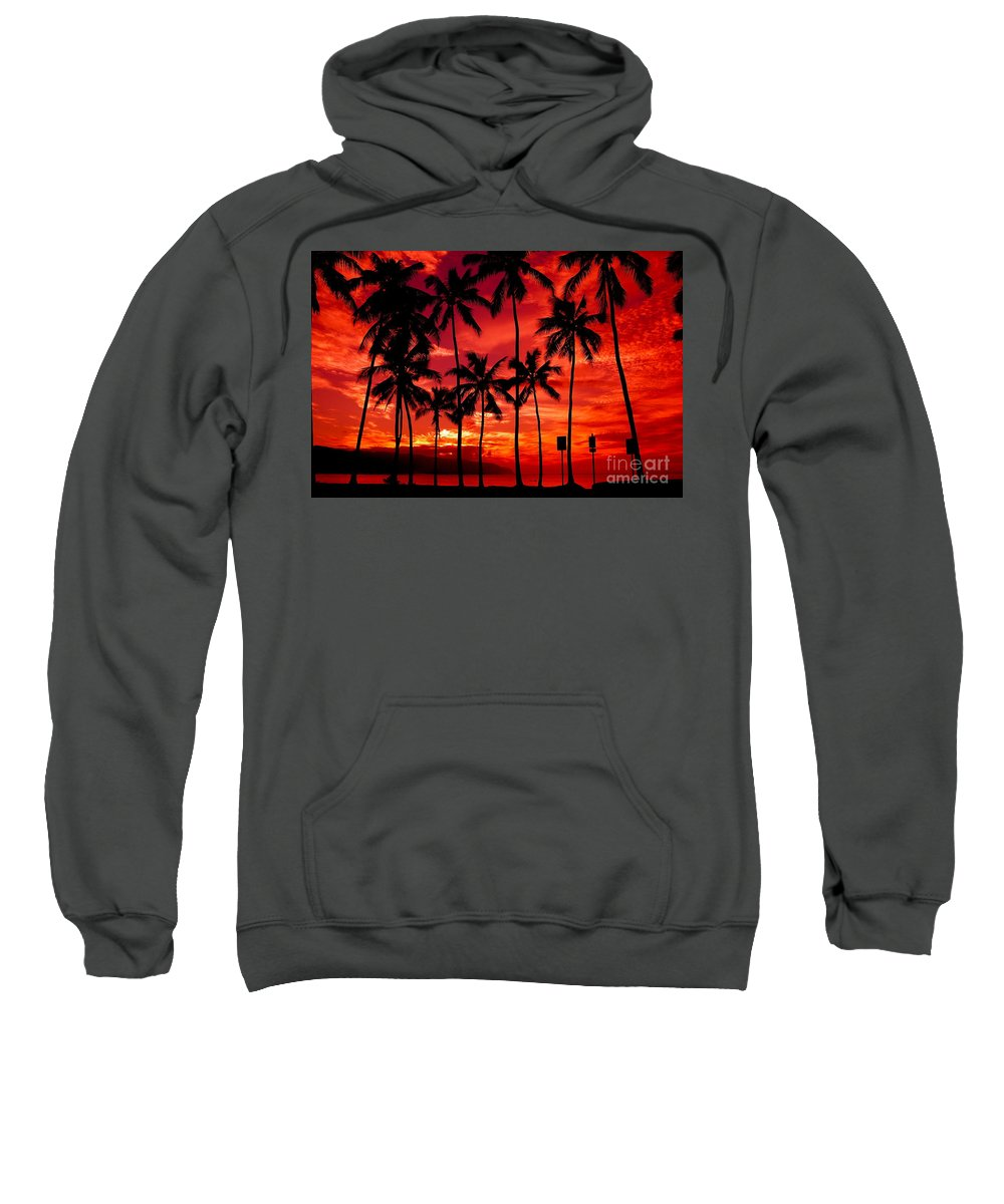 Sunset Sweatshirt featuring the photograph Haleiwa by Mark Gilman
