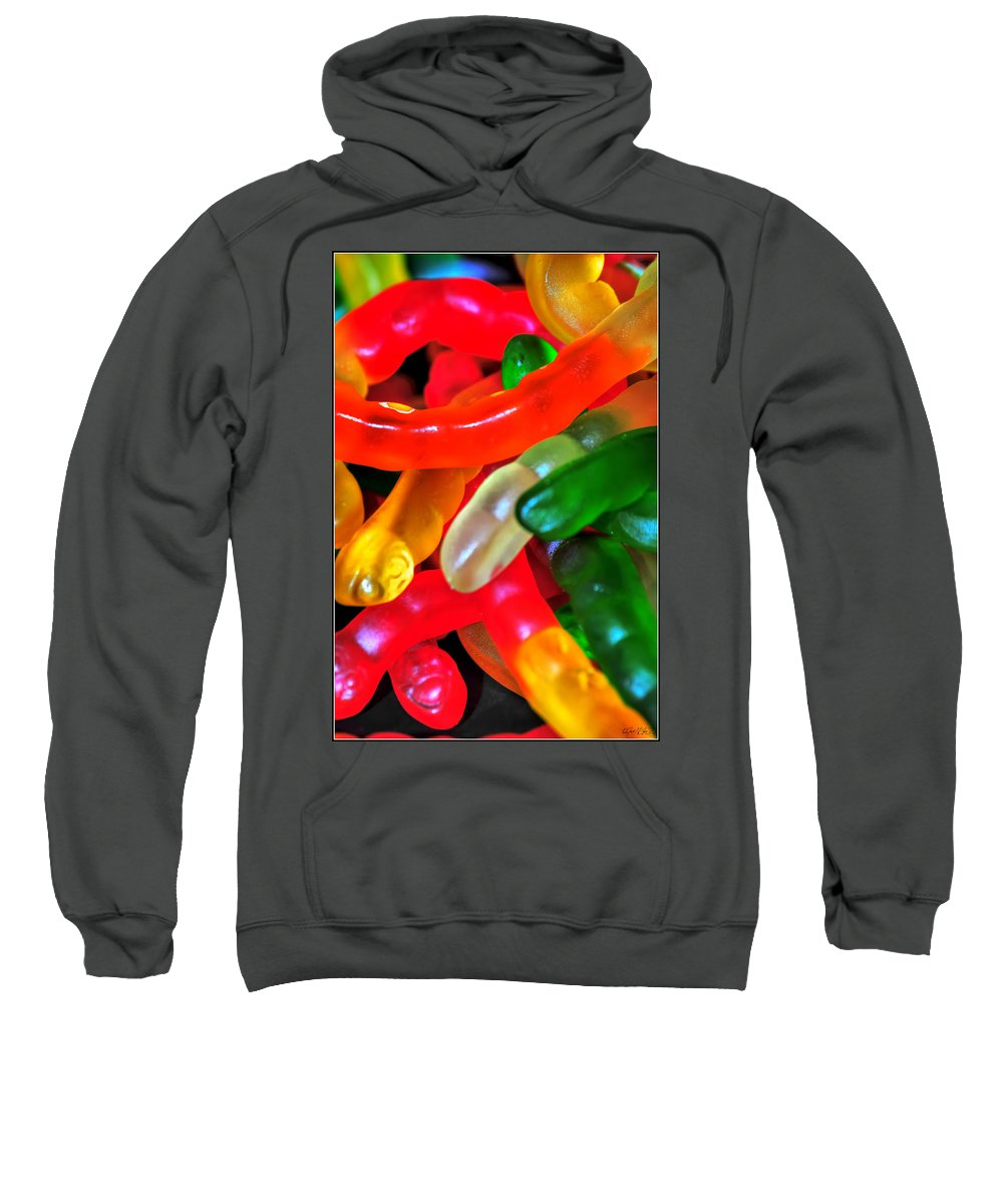 Sweatshirt featuring the photograph Happy Worms by Michael Frank Jr