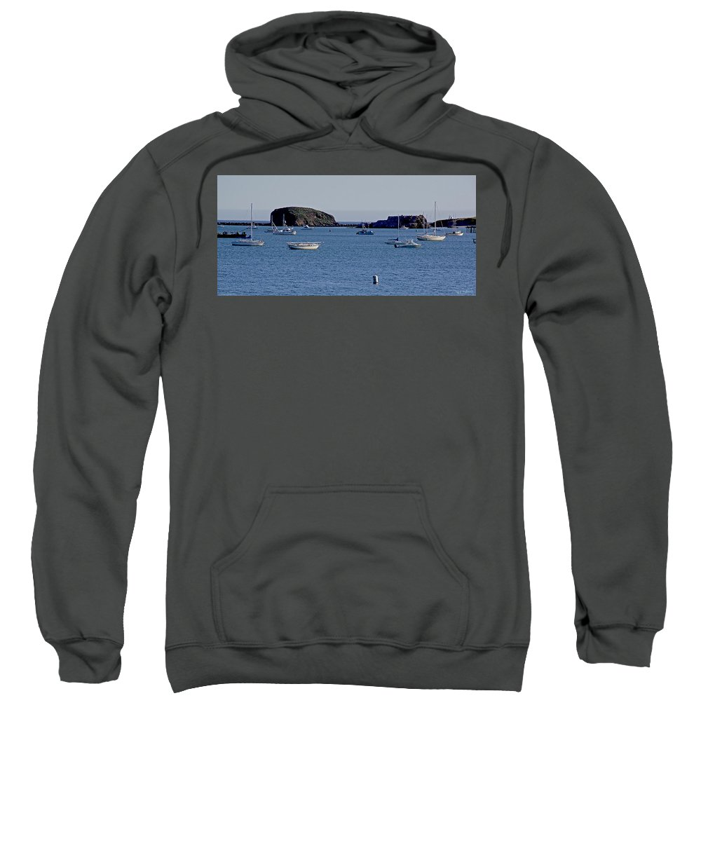 California Sweatshirt featuring the photograph Harbor On The California Coast by Mick Anderson