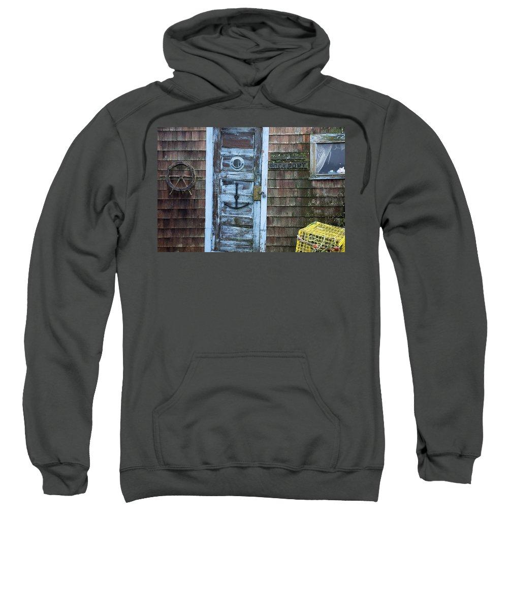 Boston Sweatshirt featuring the photograph Harbor Sign by Jenna Szerlag