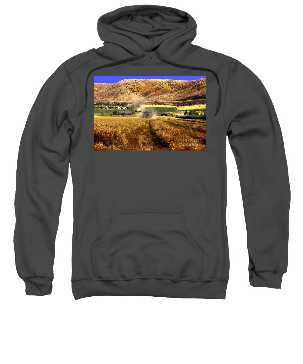 Wheat Sweatshirt featuring the photograph Harvest Time by Robert Bales