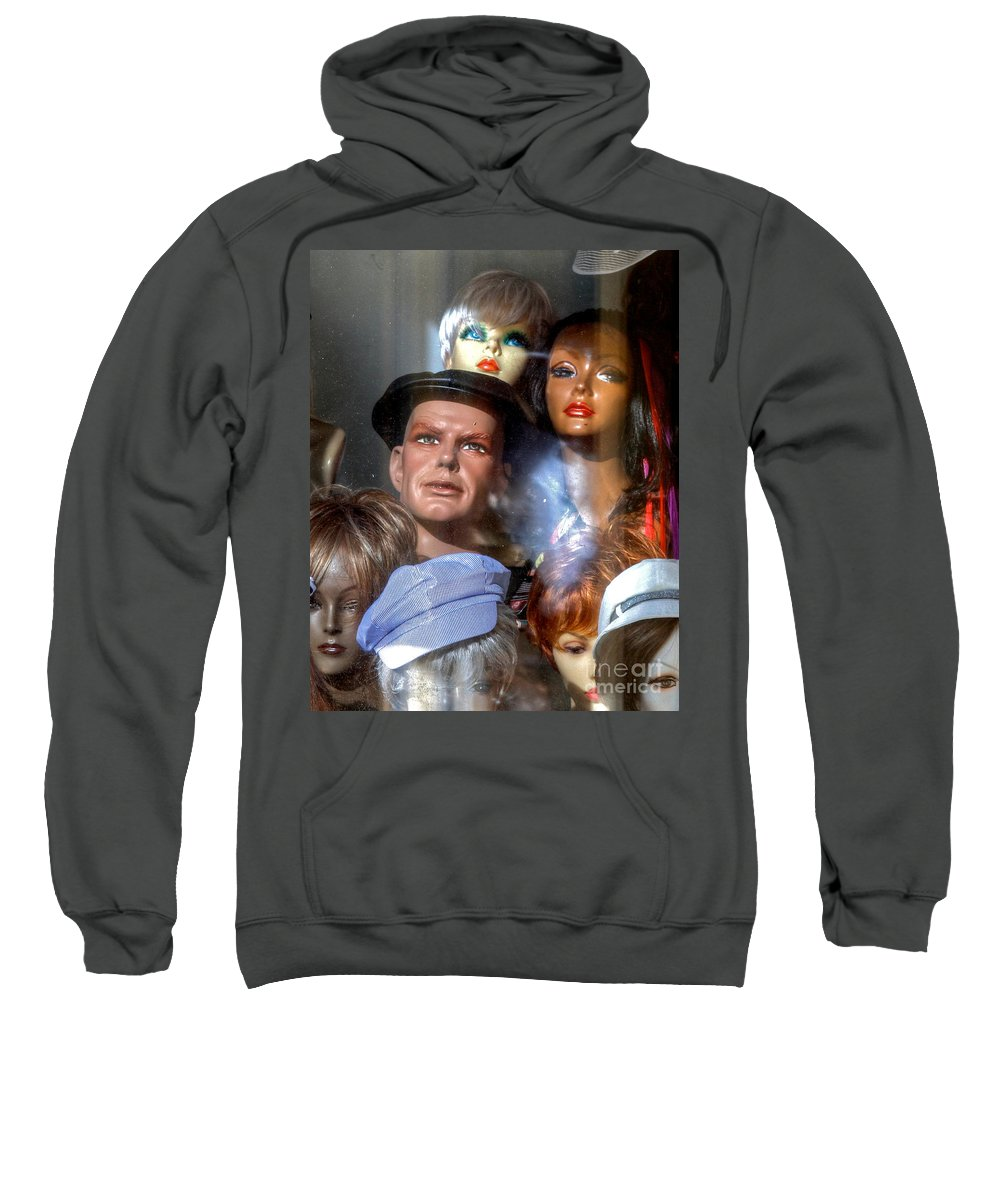 Store Front Sweatshirt featuring the photograph He Sees Right Thru Me by Robert Pearson