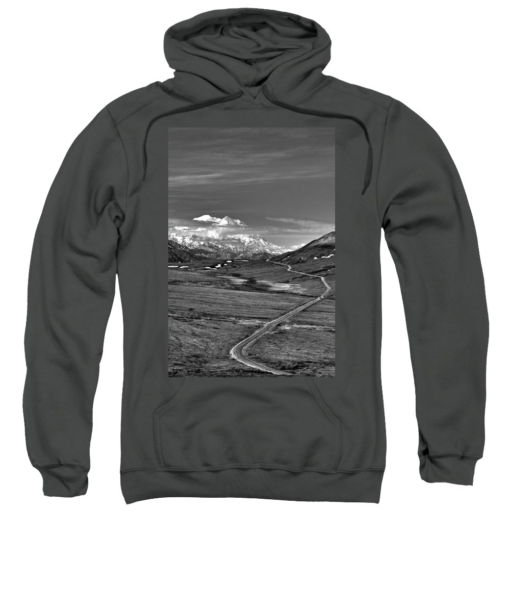 Headed To Mckinley Sweatshirt featuring the photograph Headed To Mckinley by Wes and Dotty Weber