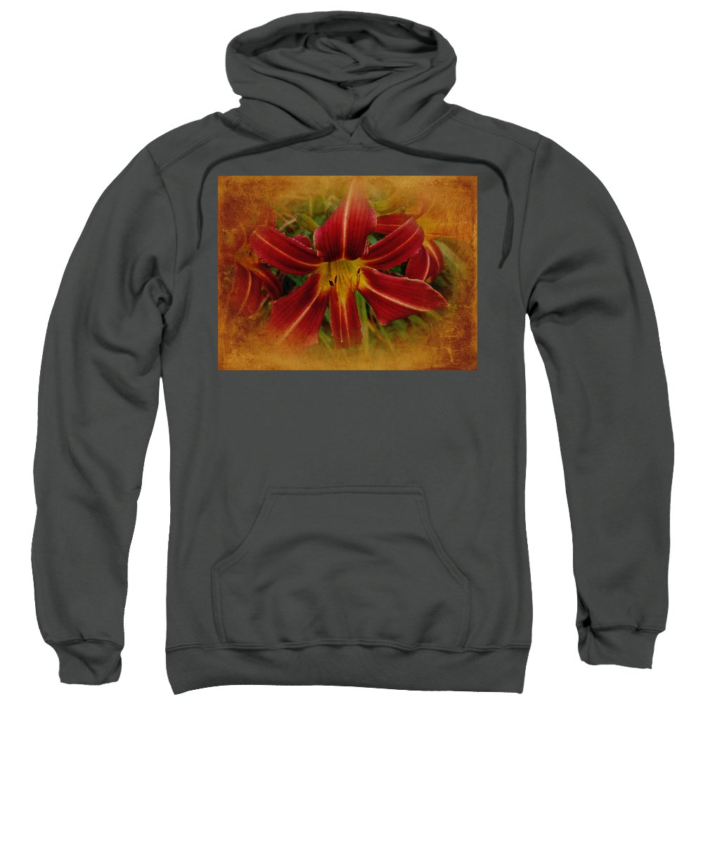 Lily Sweatshirt featuring the photograph Heart Of The Lily by Mother Nature