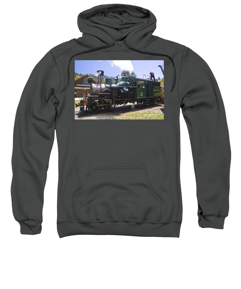 Roaring Camp & Big Trees Sweatshirt featuring the photograph Heisler by Tim Mulina