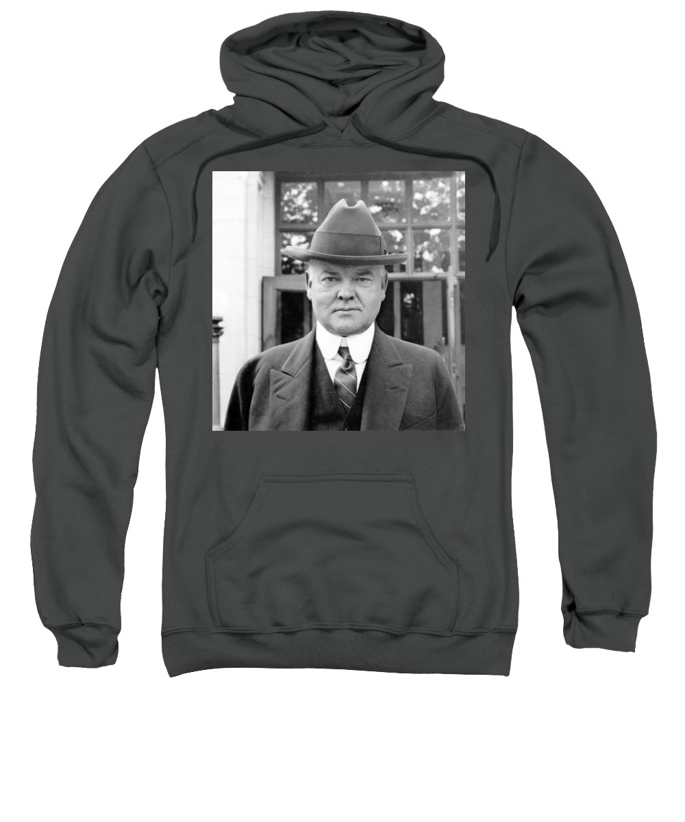 herbert Hoover Sweatshirt featuring the photograph Herbert Hoover - President Of The United States Of America - C 1924 by International Images